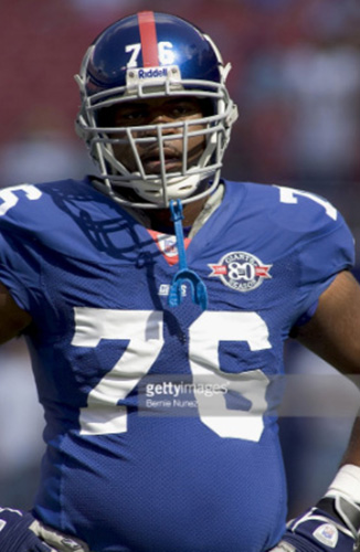 Brandon Winey as a New York Giant