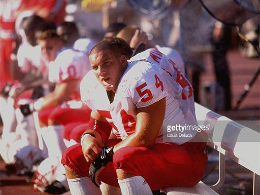 Dominic Raiola as a Nebraska Cornhusker