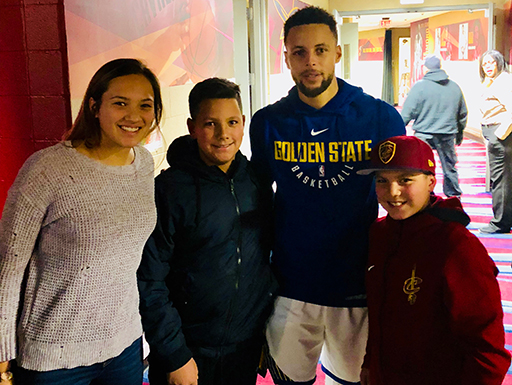 Dominic Raiola Kids and Steph Curry