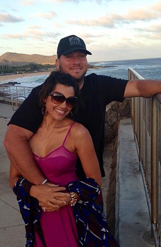 Dominic Raiola and wife