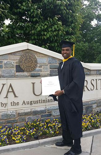 Randy Neal earning his degree