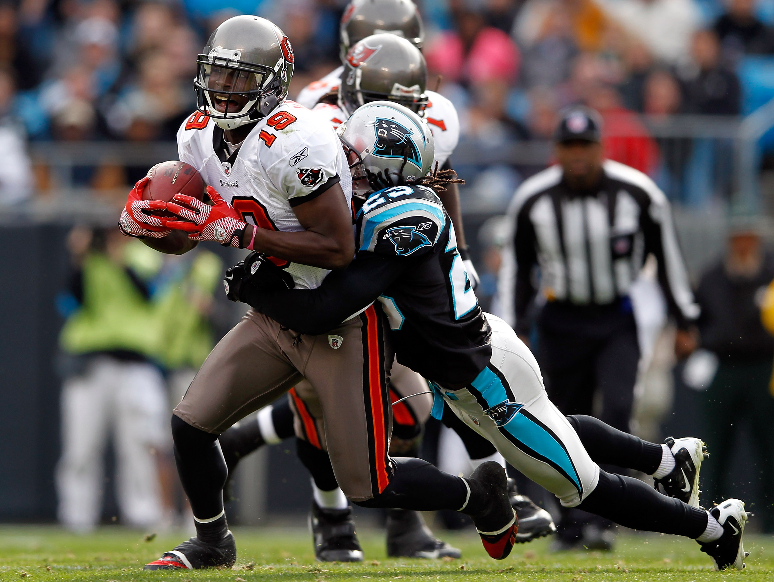 Sherrod Martin Playing with the Panthers