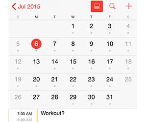 scheduled workout