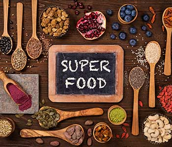 Superfoods in dishes